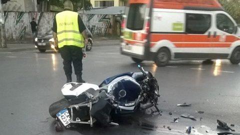 Моторист е в тежко състояние след отнето предимство от шофьор на автобус № 60 в столицата