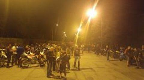 Старт на Масовото нощно каране в София 2, организирано от Sofia Riders