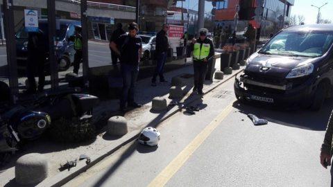 Нагъл шофьор на бус блъсна мотоциклет на Sofia Riders след забранен обратен завой